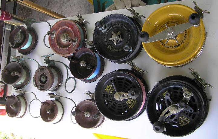 a selection of alvey reels